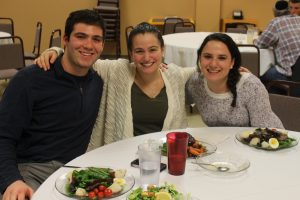 Students at Dinner in Cafe