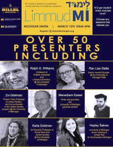 2016 Limmud Michigan Flyer